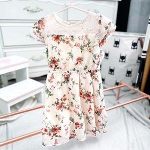 Sz 5 Monteau Girl Floral Dress